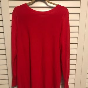 Halogen Open Back Sweater